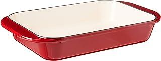 Cuisinart CI1136-24CR Chef's Classic Enameled Cast Iron 14-Inch Roasting/Lasagna Pan, Cardinal Red