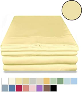 Hotel Collection Bed Sheets with Deep Pockets for Extra Deep Mattress, Microfiber, Hypoallergenic and Soft King Yellow