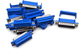 Antrader 10 Pack DB25 Male D-Sub 25Pin Solderless Type IDC Crimp Connectorn for Flat Ribbon Cable