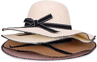 ZiWen Lu Big Along The hat Female Summer Folding Sunscreen Ladies Visor Fashion Simple Beautiful Korean Version (Color : Brown)