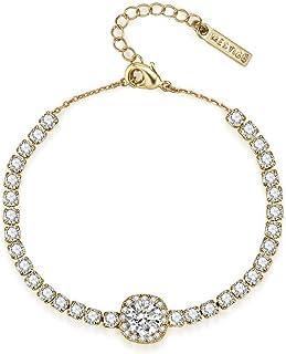 Mestige Wristband Bracelet For Women, Gold - MSBR3433