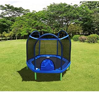 Durable, Portable, UV Tested, Bounce Pro 7' My First Trampoline (Ages 3-10) Basic for Kids- Guaranteed safe for Kids