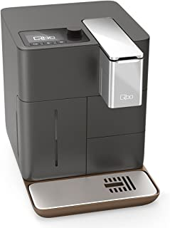 QBO You de Rista–Cafetera de cápsulas espresso y Caffè grande (19bar, 1500W), color gris gris mate