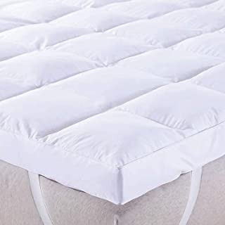CANNON Single Size Mattress Topper Down Alternative Overfilled Thick Pillow Top Mattress Cover Soft Fluffy and Warm Hotel ...
