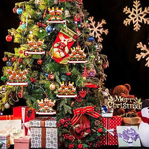 Weihnachtsdekoration Kit, Personalisierte 2020 Weihnachtsschmuck, Weihnachtsschmuck Personalisierte Familiendekor Anhänger Geschenk, PVC-Material Weihnachtsfamilie Anhänger