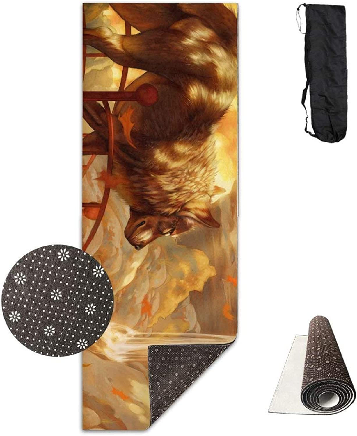 Ornate Fairy Wolf Premium Print Durable Concise Fun Printing Yoga Mat for Yoga, Workout, Fitness