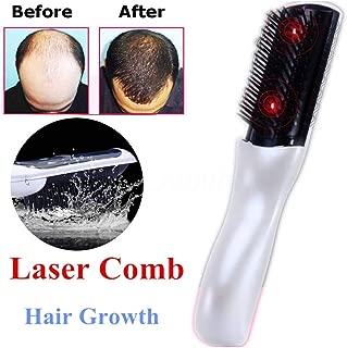 電動頭皮ブラシ 育毛 ブラシ ワイヤレス赤外線レーザー 音波振動磁気 乾電池式薄毛、スカルプ、頭皮ケア、脱毛防止 発毛促進 頭皮マッサージ器