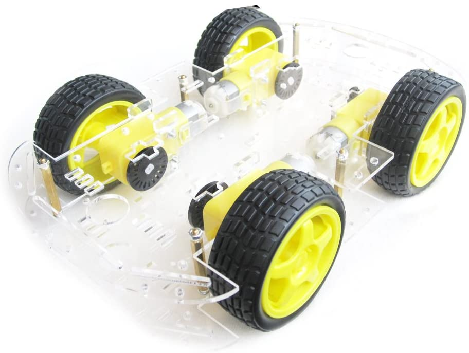 4 Wheel 2 Layer Robot shipfree Smart with Car Kits Louisville-Jefferson County Mall Chassis Speed Encoder