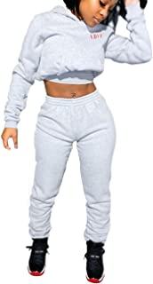 Jogging Suits for Women, Tracksuit 2 Piece Outfits Long Sleeve Hoodie Sweatshirt Pants Set