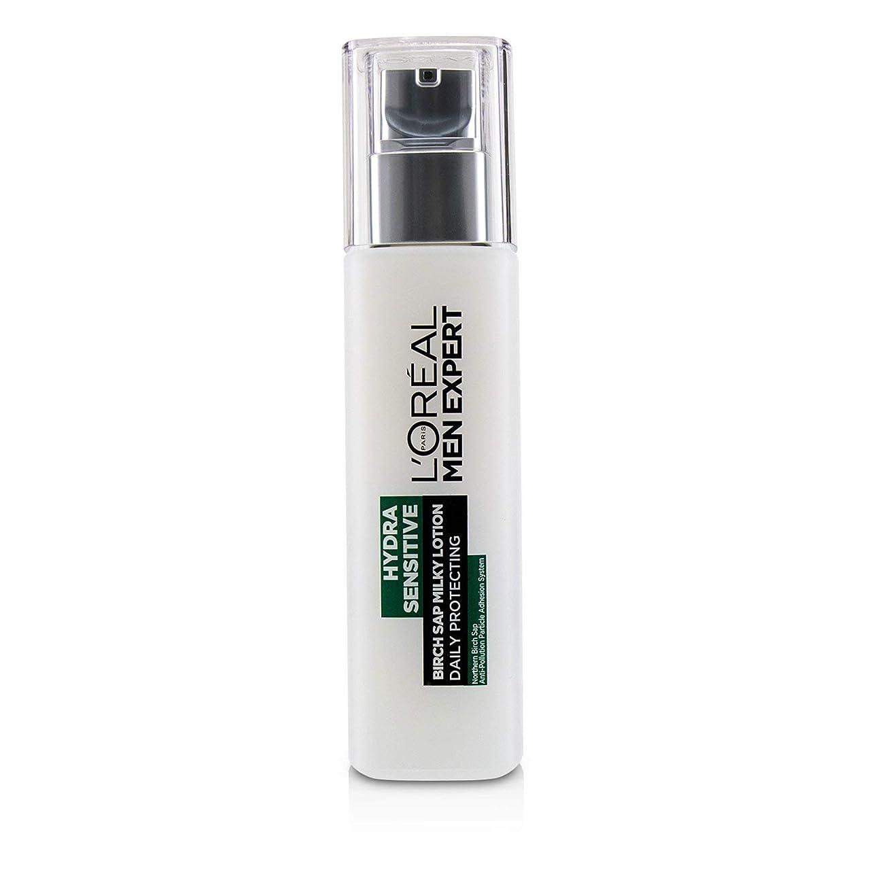 のぞき穴コイルケントロレアル Men Expert Hydra Sensitive Birch Sap Milky Lotion Daily Protecting (For Sensitive Skin) 110ml/3.72oz並行輸入品