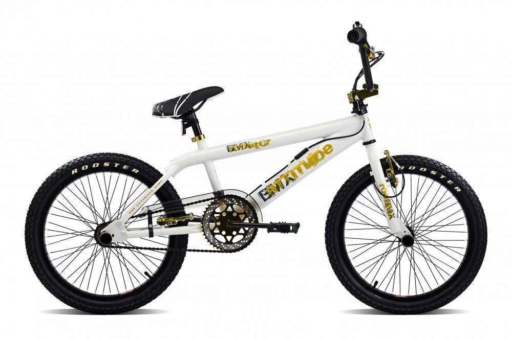 Rooster BMX 20 Bike Bicicleta Freestyle Attitude Oro, Blanco/Dorado: Amazon.es: Deportes y aire libre
