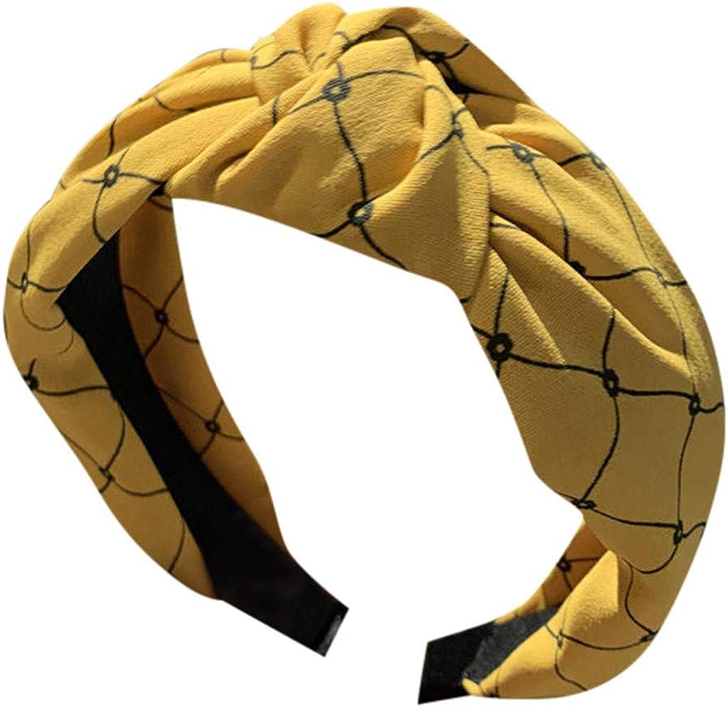 Sayhi Ms. Simple Lattice Headband Cross Knot Hairbands Knot Turban Headband Girls Hair Head Hoop Hair Accessories
