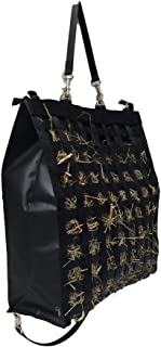 "The Original NibbleNet 9"" deep w/ 1.25"" Slow Feed Hay Bag by Thin Air Canvas, Inc. = Black"