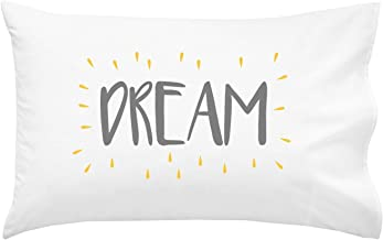 Oh, Susannah Dream Kids Pillowcase Grey Yellow - Fun Children's Pillow Case (1 20x30 Inch Pillowcase)