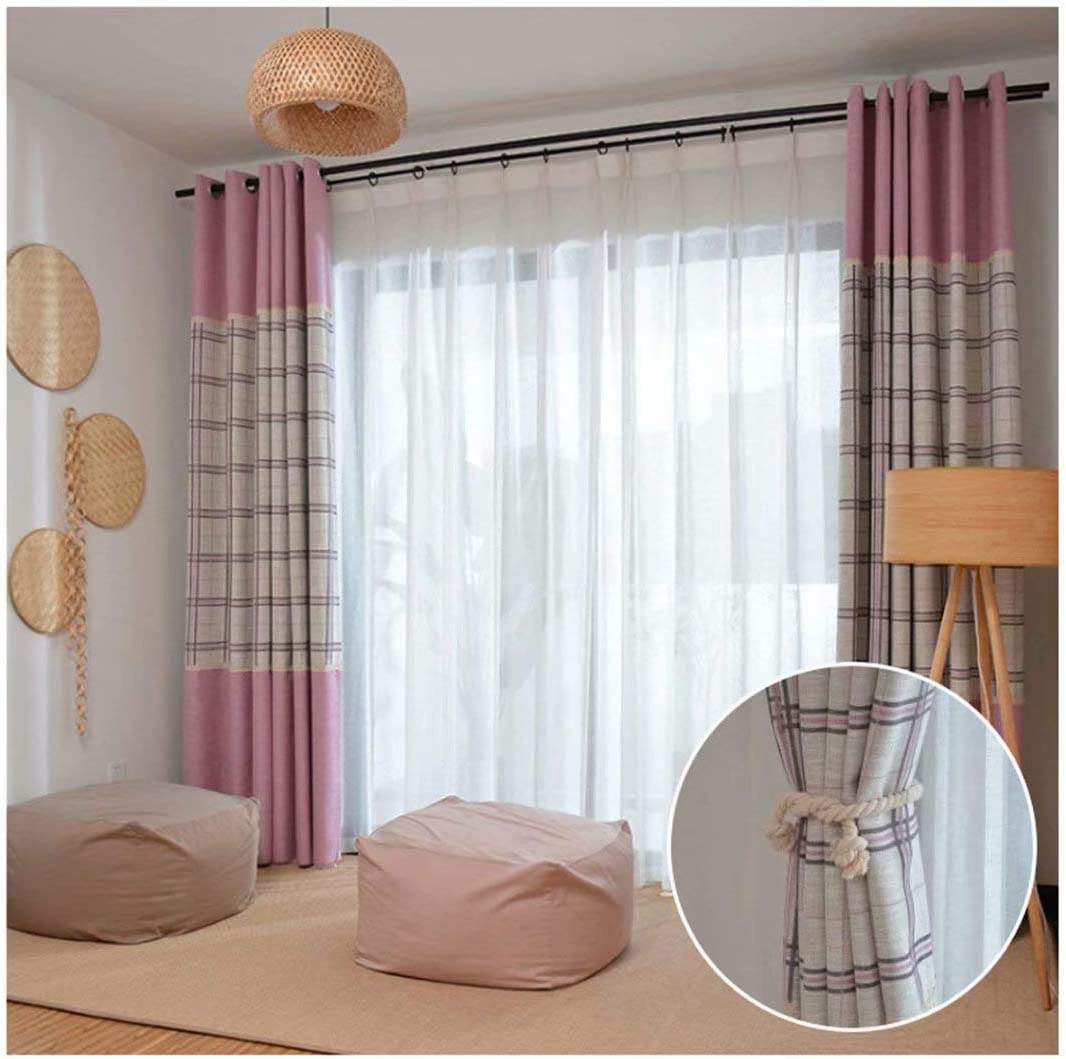 超安い Leadtimes Lace Splicing Curtains Blackout おすすめ特集 Striped Decorative Lin