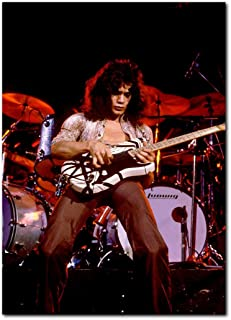 Eddie Van Halen Poster 13x19 Inches | Ready to Frame for Office, Living Room, Dorm | Live Photo 1978