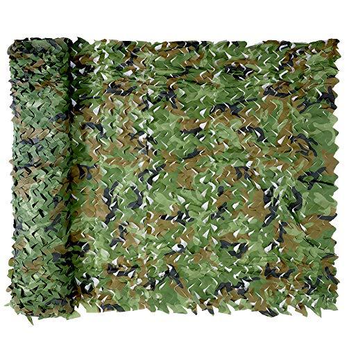 Tarnnetz, Camouflage Net Hunting Outdoor Jagd Militär Dekoration Sonnenschutz (Woodland, 1.5 x 12 m)