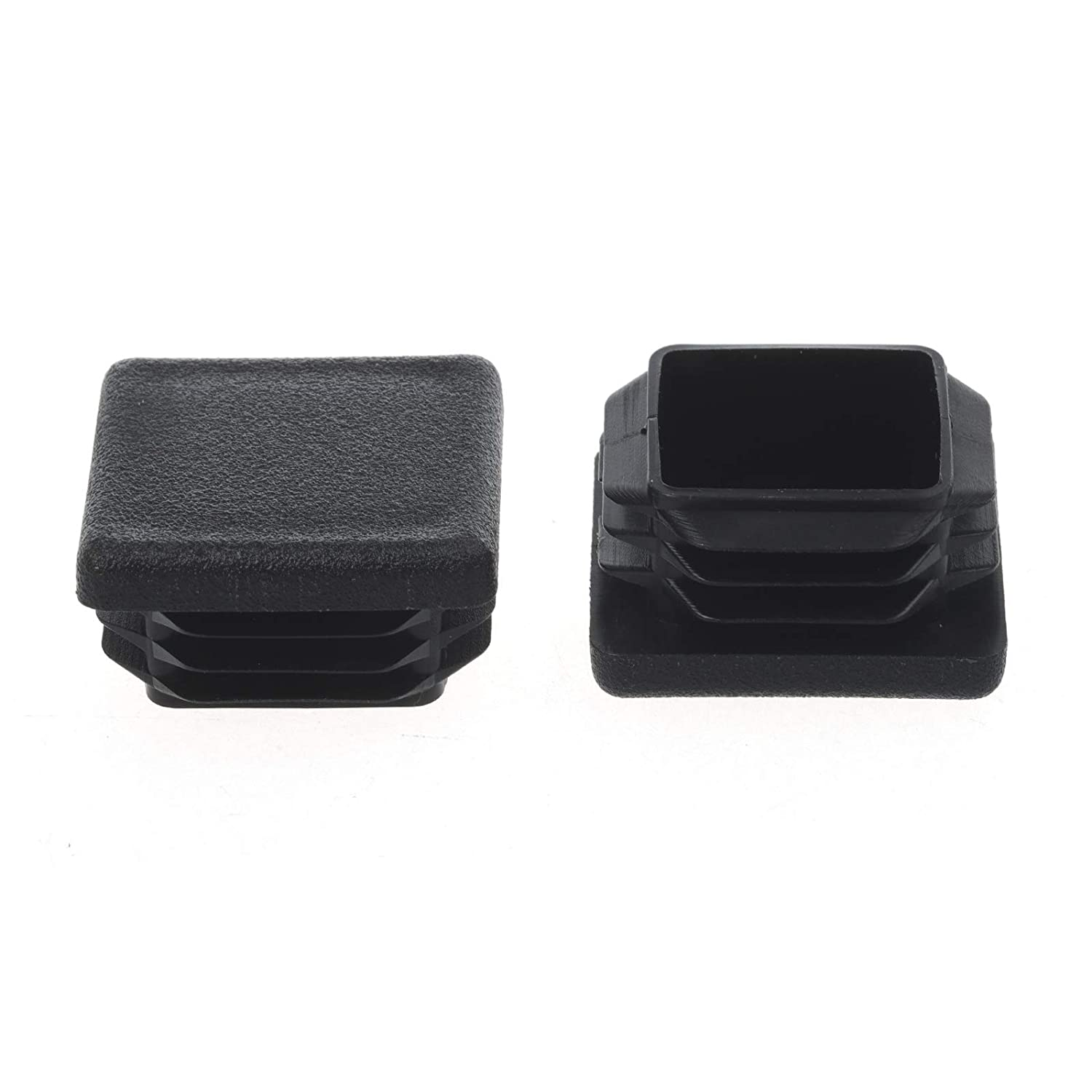 1-1/2Inch Square Plastic Plug, End Caps for Tubing Pipe OD 1-1/2