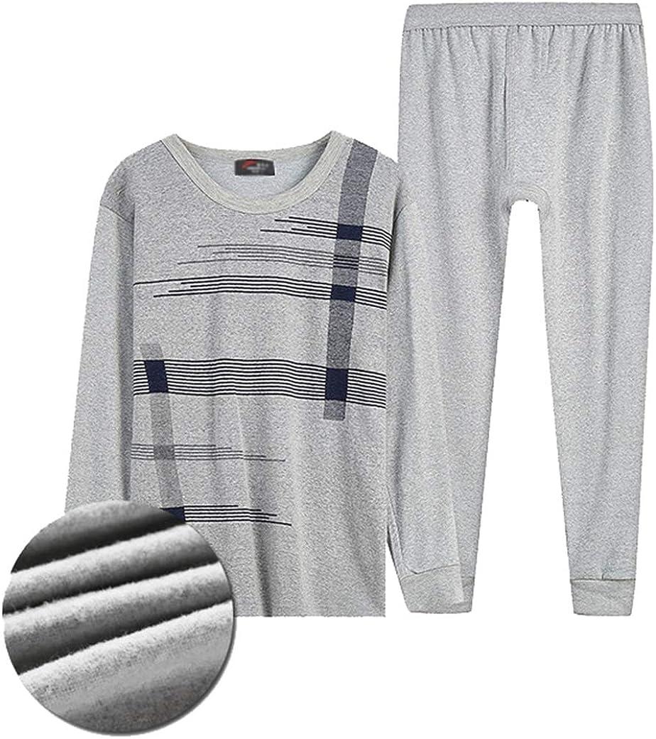 Femaroly Men's Thermal Underwear Long John Set Fleece Lined for Indoor and Outdoor