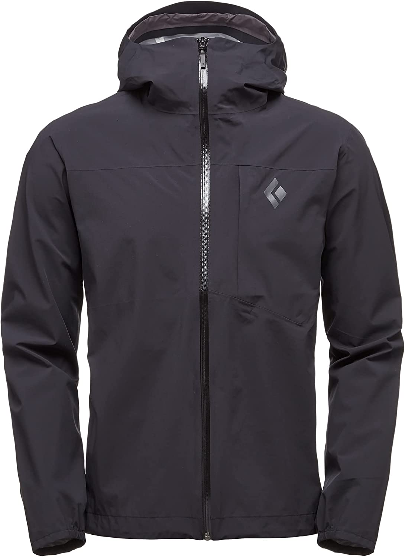 Black Diamond Mens Fineline Stretch Rain Shell Jacket