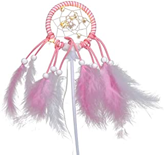 STOBOK Lovely Cake Decortion,Dream Catcher Cake Toppers for Baby Shower Birthday Wedding Party Supplies (Pink)