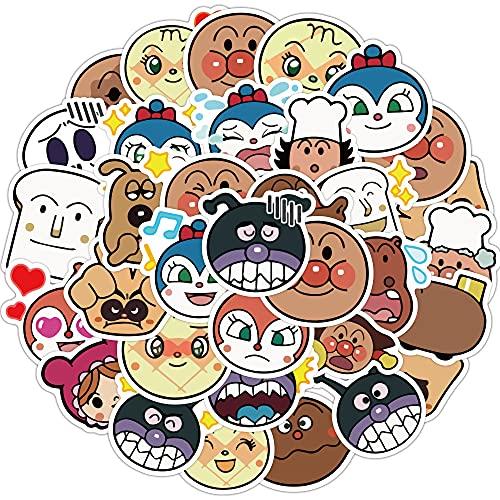 JZLMF Anpanman - Pegatinas de dibujos animados de anime, para niños, equipaje, agua, taza, graffiti mano cuenta