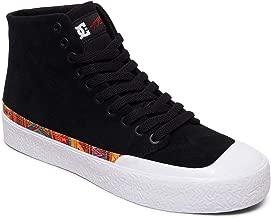 DC Shoes Mens T-Funk HI S Shoes, Black/White Print, 10.5