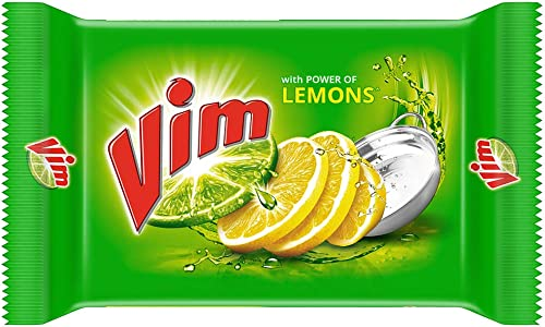 Vim Dishwash Bar Lemon Removes Stain And Grease With Power Of Lemon 200 g Pack of 3