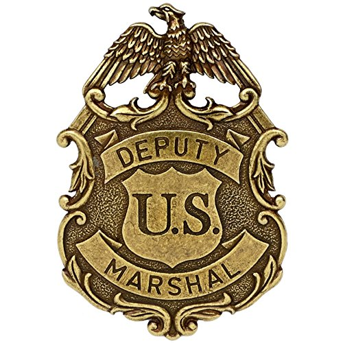 Hill Interiors - Distintivo Deputy U.S. Marshall con Aquila (Taglia unica) (Dorato)