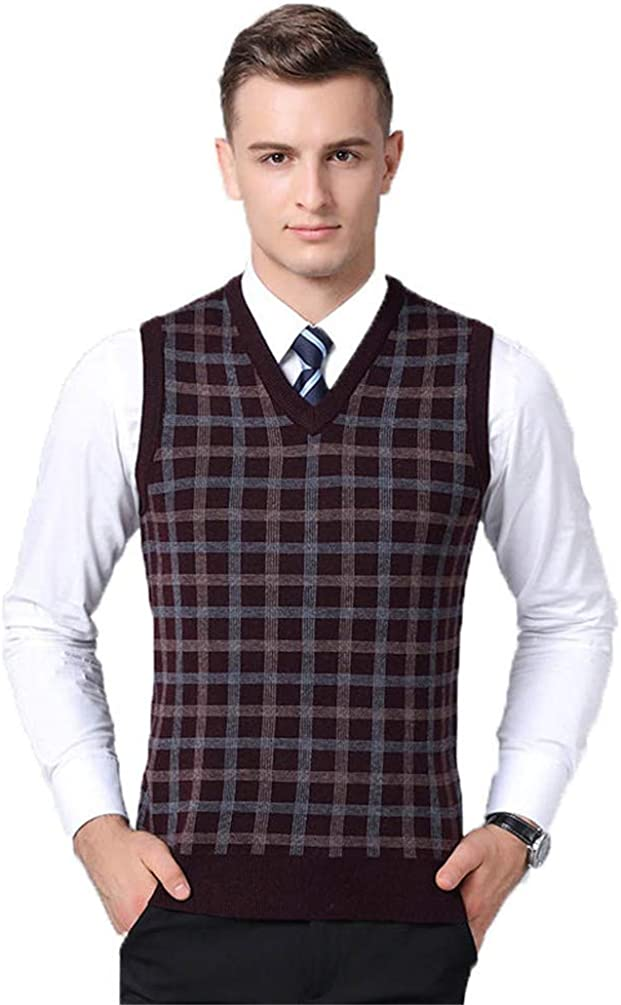 Sweater Vest Daily bargain sale Sleeveless Columbus Mall Cardigan Male Me Warm Keep Casual V-Neck