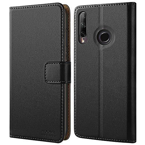 HOOMIL Handyhülle für Huawei P40 Lite E Hülle, Premium Leder Flip Hülle Cover Schutzhülle für Huawei P40 Lite E Tasche (Schwarz)