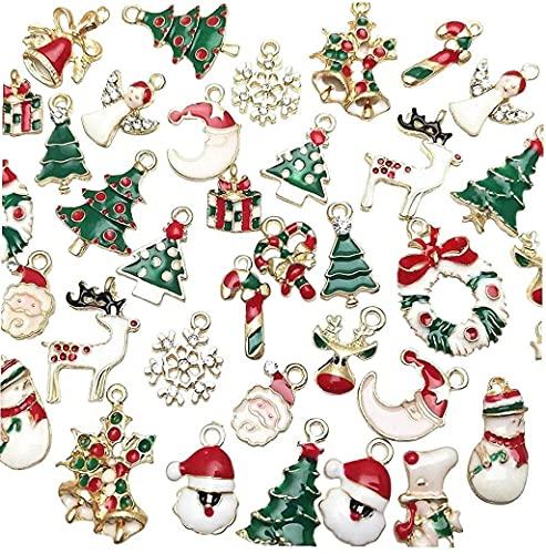 JYHZ Decoración de Navidad, Collar Lindo de Pulsera, Bricolaje Accesorios de la joyería, 38 Pendientes de la joyería de Navidad