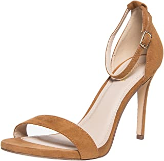 Classic Stiletto Dress Sandal Women's Single Band Ankel Strap High Heel Sandals