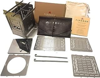 FIREBOX(ファイヤーボックス) G2 ストーブ レザーケース付き Complete Set コンプリート セット バーベキューコンロ 焚火台 5インチ ウッドストーブ