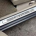 QINMH 4 Stück Autotürschwellenschutz Für Sitz Ateca Xcellence Fr 2016 2017 2019, Trim Scuff Pedal Threshold Cover Schutz Trim Zubehör, Edelstahl