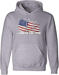 USAMM Distressed American Flag Pullover Hoodie