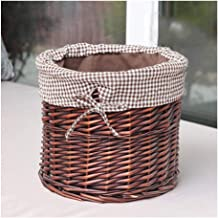 YAYADU Storage Basket Rattan Finishing Box High Capacity Hand Weave Cotton Lined Vegetables Books Clothes Bed Table Wardro...