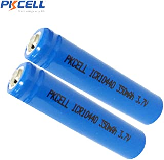 ICR10440 3.7V AAA Size 350MAH Lithium Rechargeable Battery,2 Counts.