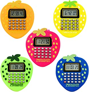 Hemobllo 5 pcs Kids Watch Calculator Watch Lovely Durable Strawberry Multifunction Wristwatch Creative Strap Adjustable Color Gift for Kids Children