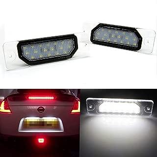 Xotic Tech White 18-SMD Direct Fit LED License Plate Light Lamp for Infiniti G37 FX Q45 I30 M Nissan 370Z 350Z GTR
