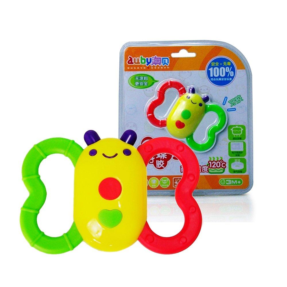 AUBY 澳贝 婴儿启蒙玩具 蝴蝶牙胶463152