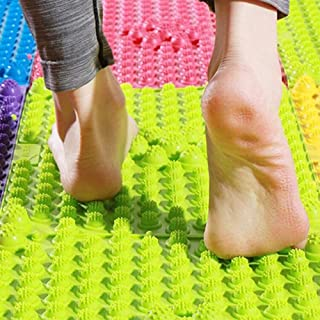 YOBEYI Foot Massage Mat Acupressure Mat Foot Reflexology Walking Toe Plate Massage Pad Bathroom Mat Yoga Mat Anti-Slip Mat Outdoor Game 2 PCS (Green)