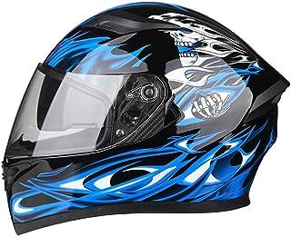 MRDAER Motocross-Helm Adult Full Face Motorradhelm mit Schutzbrille Motorrad Crash Helm Schutzausrüstung für Downhill Offroad Quad Bike ATV, DOT-Zertifizierung 54 = 65CM
