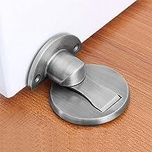 Magnetische deurstop,Magnetische deurstop geborsteld satijn nikkel,Vloer metalen magnetische deurvangst onzichtbare deurho...