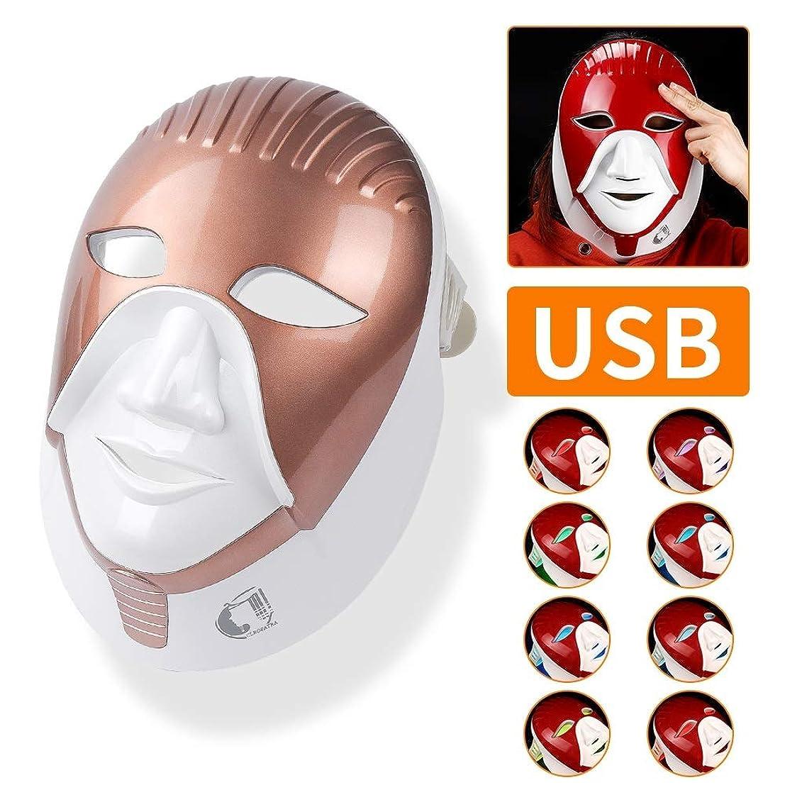 変数ソフィー謙虚な再充電可能な7色はスキンケアのためのマスクを導きました首のエジプト様式の光子療法の表面美の顔のマスクを導きました,A