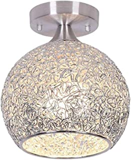 PIXNOR Luz de Techo Empotrada Lámpara Colgante de Cristal LED Lámpara Moderna de Techo para Cocina Sala de Estar Dormitorio