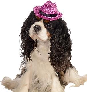 Rubie's Pink Glitter Cowboy Hat for Pets, Medium/Large