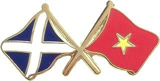 Scotland-Bandiera Vietnam & preciso dell'amicizia, Lapel Pin Badge