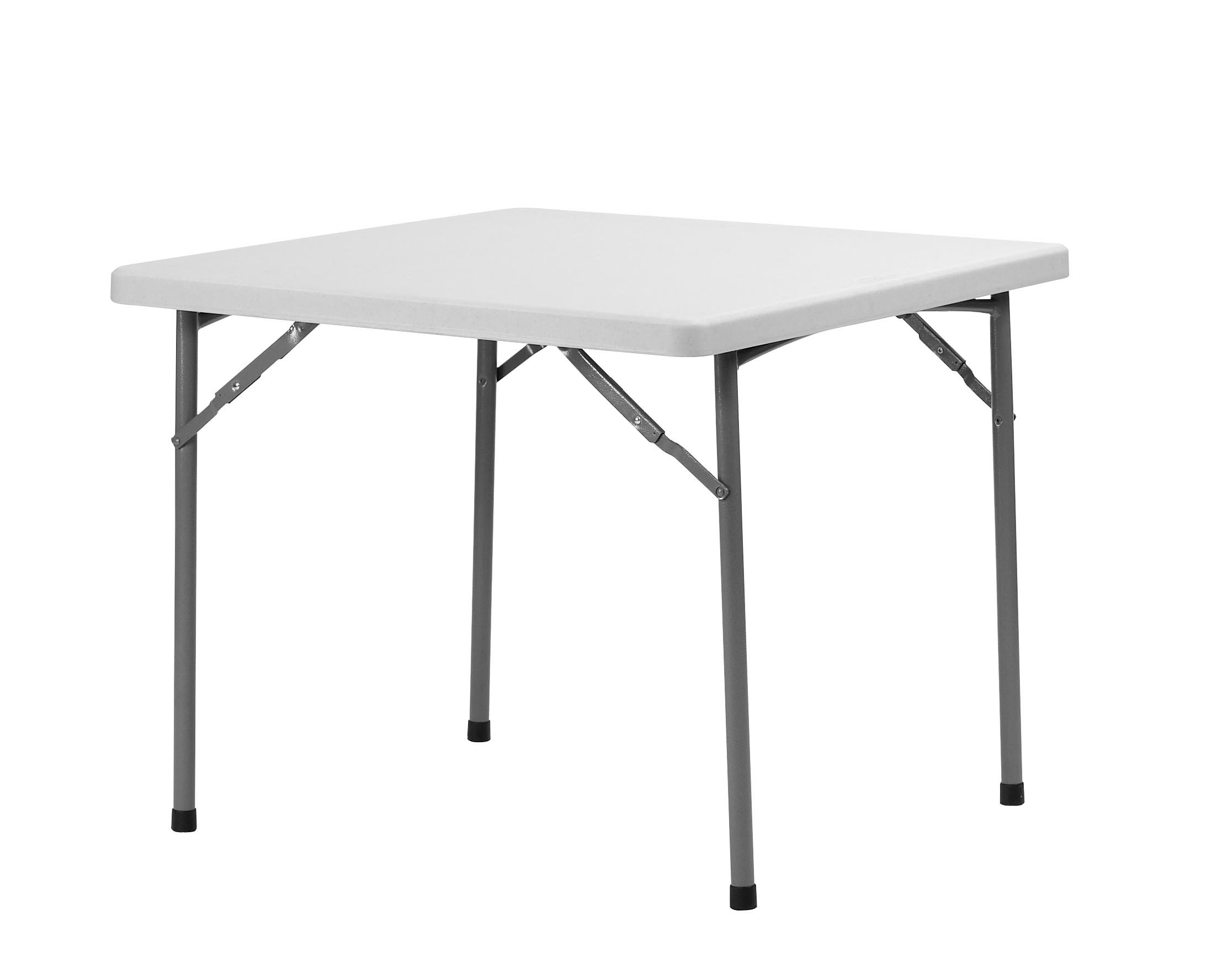 Maxchief XXL90 - Mesa plegable, 91.4 x 91.4 x 74.3 cm, color gris claro: Amazon.es: Jardín