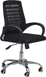 كرسي مكتب دوار جي ام ميش ذو قاعدة باللون الاسود كروم من ليدرز فيرنتشر